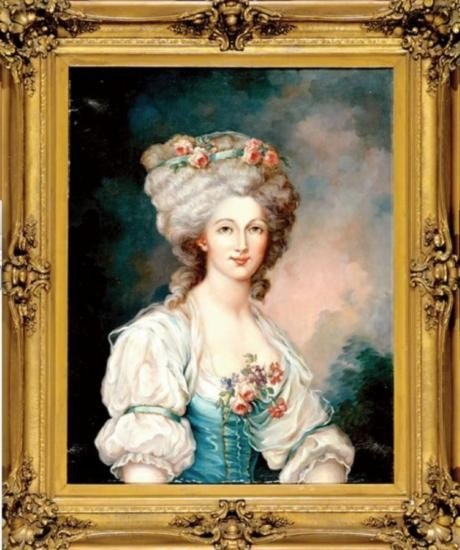 Portrait of a French Lady Oil on Canvas