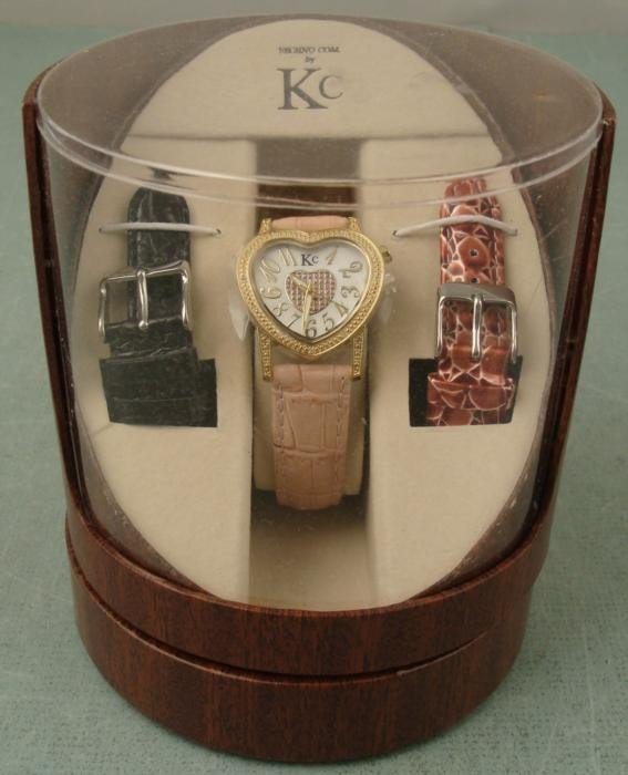 Kenneth Cole Ladies Heart-Shaped Diamond Watch MINT