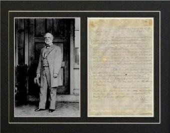 Robert E. Lee Civil War Fairwell Letter Autograph