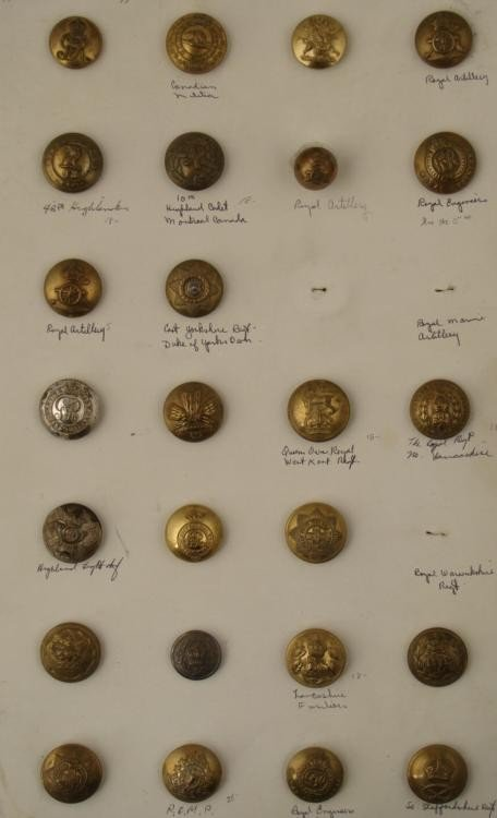 25 Canada Regiment Buttons Antique Collection