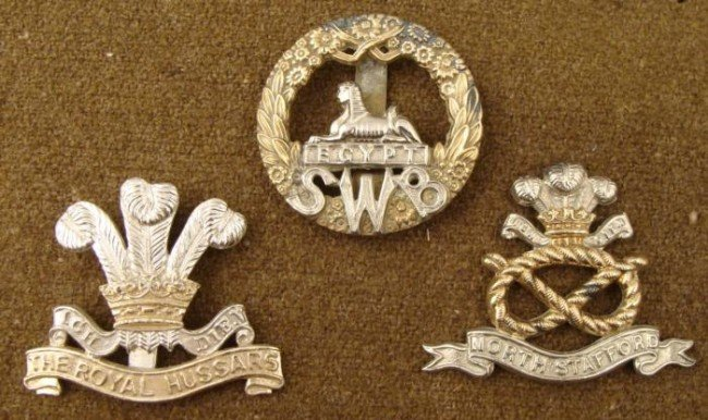 3 Welsh Regiment Badges Royal Prince of Wales