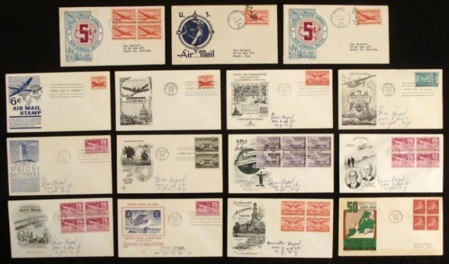 15 First Day Covers Airmail & Flight 1946-49