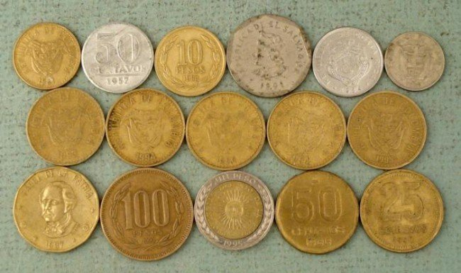 Lot 16 Central & South American Coins 8 Diff Countries