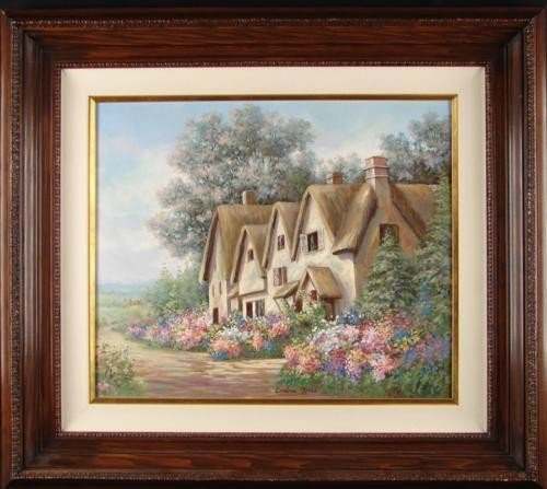 Original Painting AMBLESIDE English Cottage Moses Art
