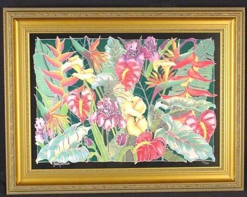 Lush FLORAL Tropical Flowers Framed Art Susan Patricia