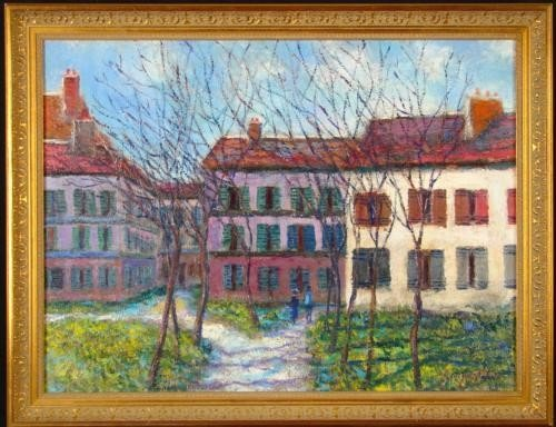 Scoppettone MONTMARTRE Painting Post Impressionist Art