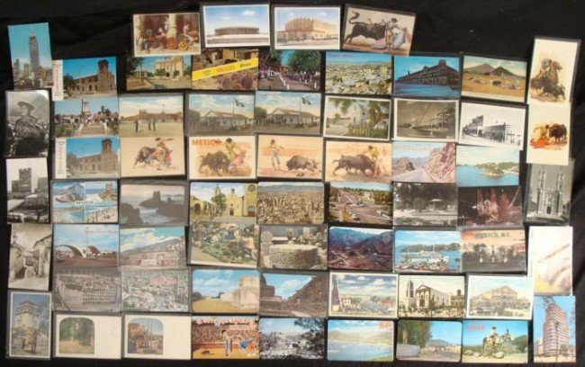 60+ Vintage Mexico Postcards, Some B & W 1940s