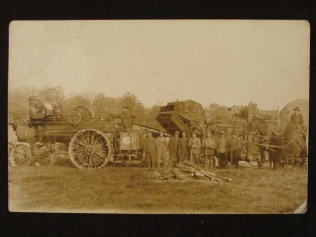 Antique Real Photo Postcard Steam Powered Machinery