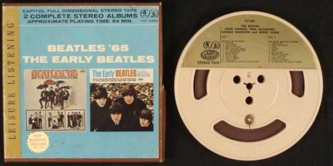 Beatles 65, Early 2 Stereo Albums 4 Track Reel to Reel