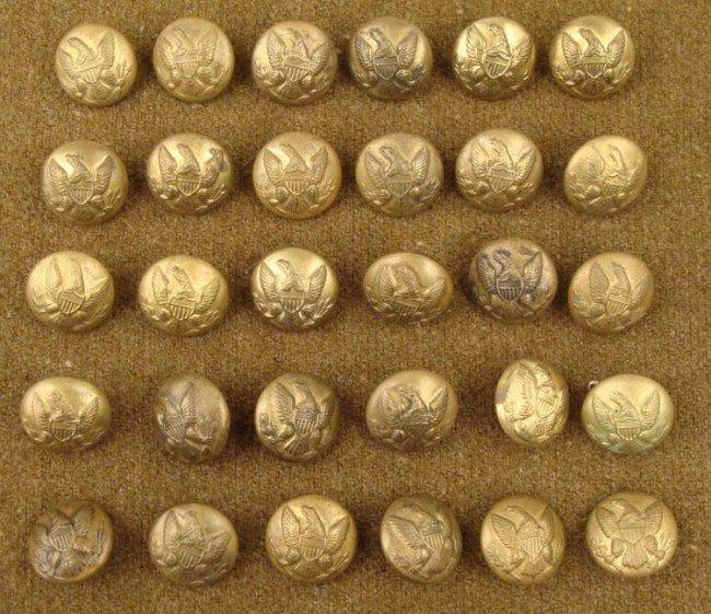 30 Civil War Buttons Scovill Mfg. Co. Waterbury -ORIG