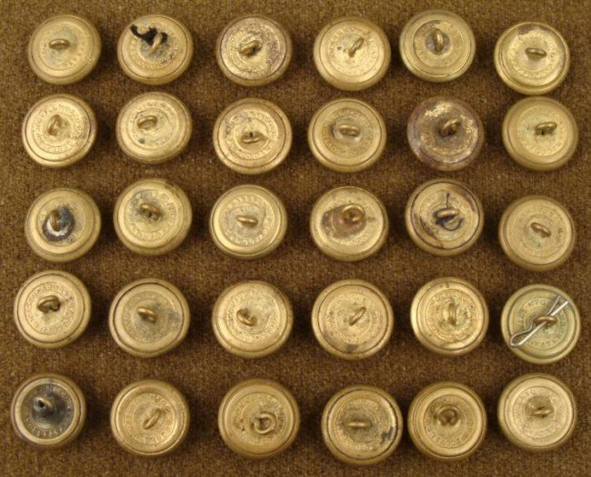 30 Civil War Buttons Scovill Mfg. Co. Waterbury -ORIG - 2