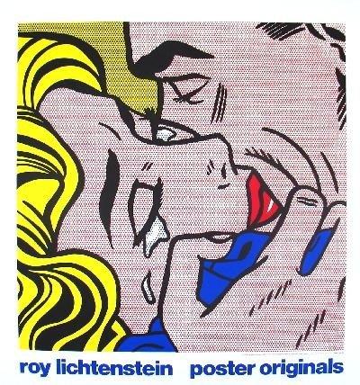 Lichtenstein The Kiss V Serigraph