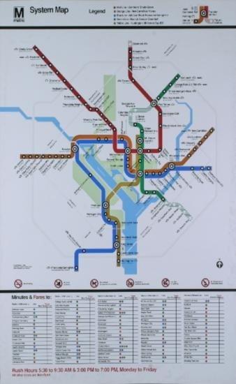 Washington DC Subway System Map Serigraph