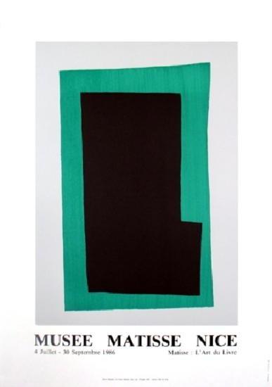 Matisse Green Rectangle Lithograph