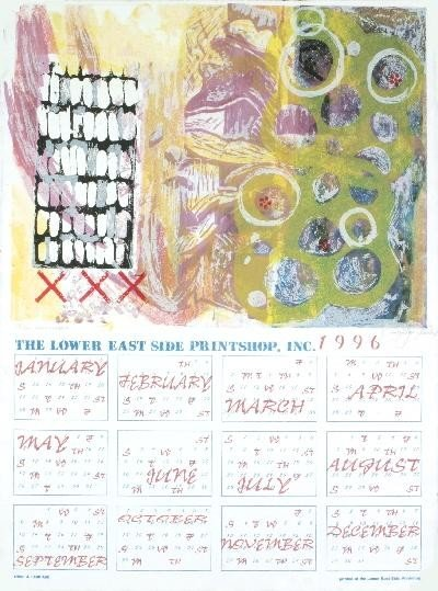 Signed 1996 Kim Calendar Serigraph
