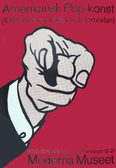 Lichtenstein Amerikansk Pop-Konst Serigraph