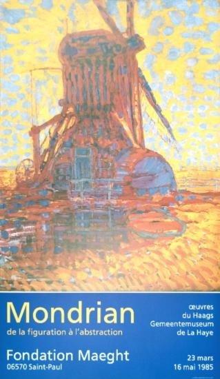 1984 Mondrian Moulin Au Soleil Poster