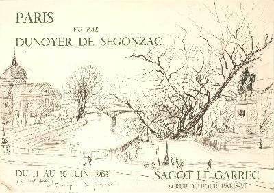 1963 De Segonzac Paris Mourlot Lithograph