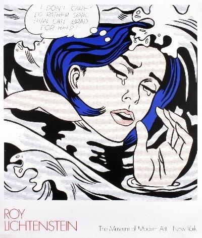 1990 Lichtenstein Drowning Girl Serigraph