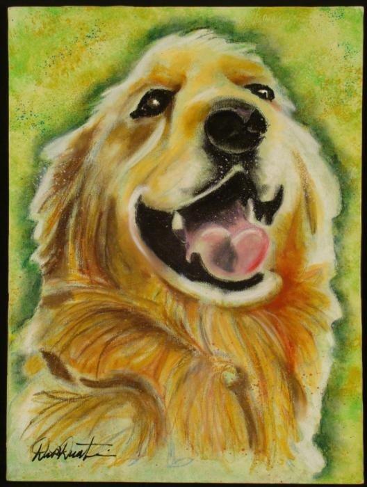 Duerrstein Original Dog Painting Golden Retriever