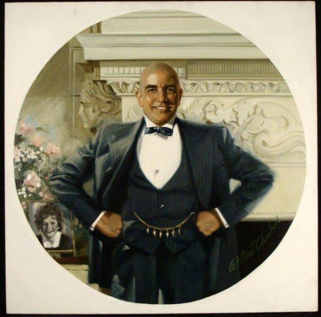 William Chambers Original Art Painting Daddy Warbucks