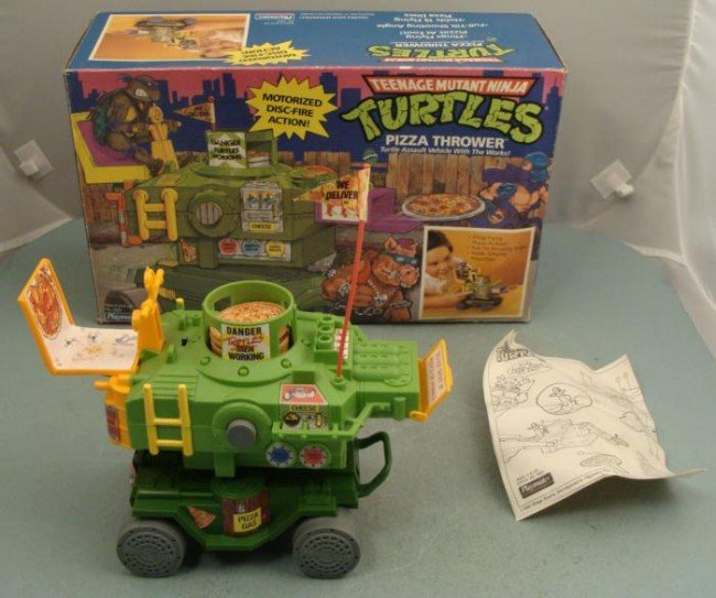 TMNT Turtles Pizza Shooter Vehicle Working IN BOX
