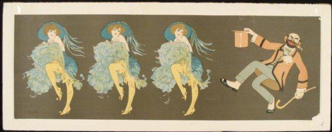 Edouard Bernard Can-Can Dancers Hobo Vintage Art Print
