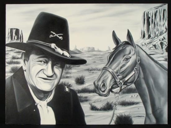 Hector Monroy Original Art Oil Painting John Wayne