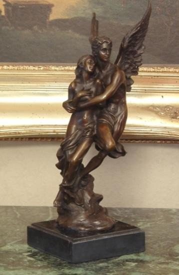 Lovely Bronze Sculpture Guardian Angel