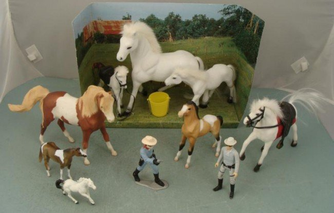 Lone Ranger, Silver, Horses Action Figures Toy Lot 10