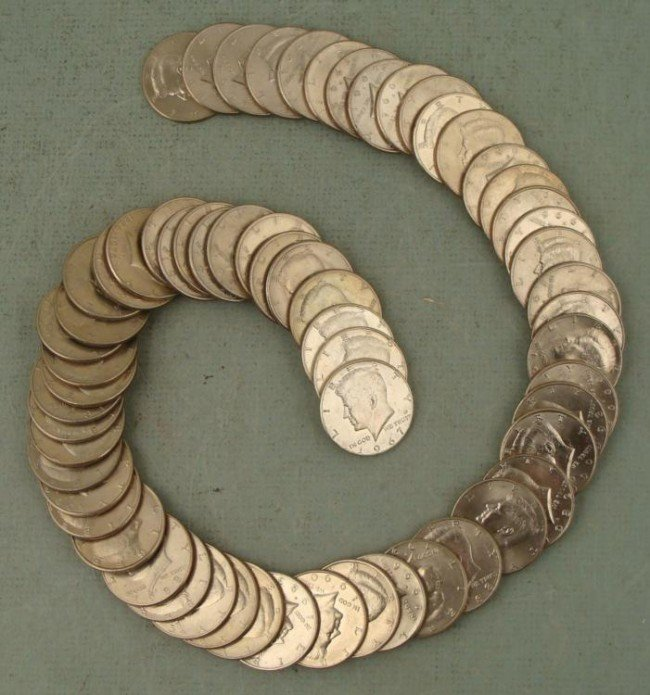 Kennedy Half Set 1967-2001 61 Coins w/ Silver, Most UNC