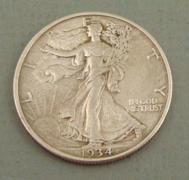 1934 Walking Liberty Half Dollar - Strong XF