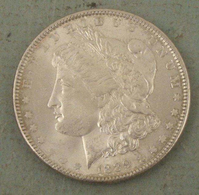 Very High Grade 1889 Morgan Silver Dollar