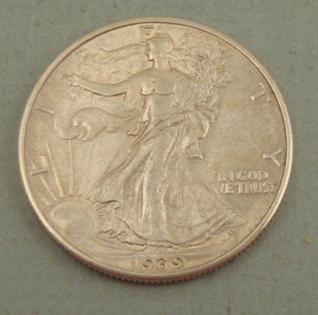 AU-UNC 1939 Walking Liberty Half Dollar