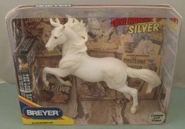 Lone Rangers Silver Horse from Breyer w/ Video MIB