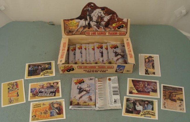Lone Ranger Trading Cards Original Box + Western Cards