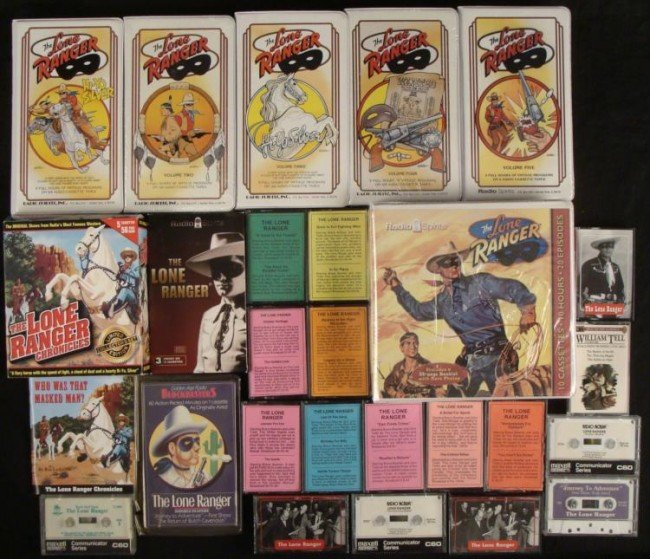 Lone Ranger Audio Cassette Collection 65 Tapes