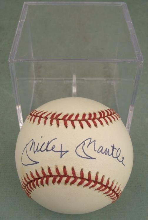 Mickey Mantle Signed Autographed OAL Baseball
