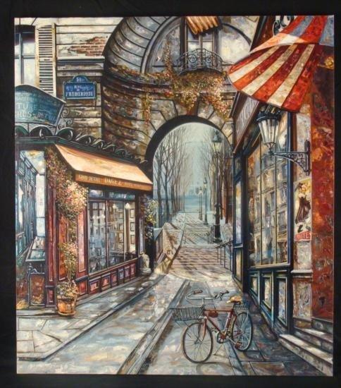 Vadik Suljakov Signed Print Rue de Frederique France
