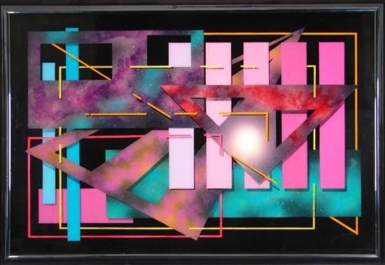 John Moulton Jr. Abstract Reverse Oil Painting Art Star