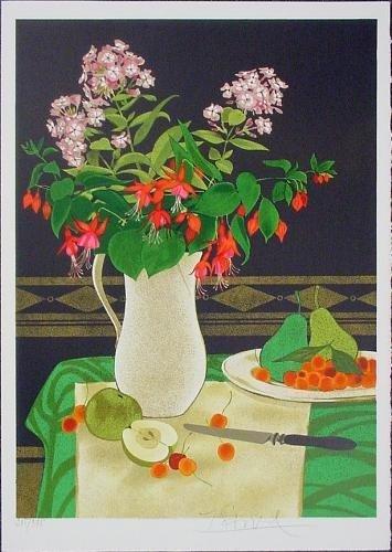 Bold Fruit + Flower STILL LIFE Signed LE Art Special