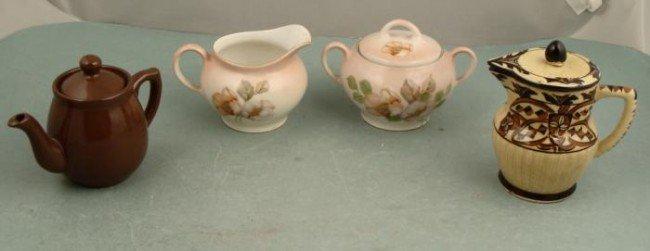 4 Pc Asst Porcelain Tea Service Bavaria Japan Creamer