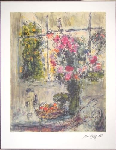 After Marc Chagall STILL LIFE Floral Bouquet Art Print