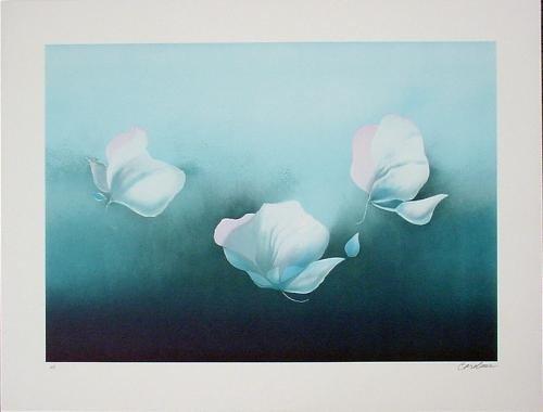 BLUE FLOWERS Signed LE Fine Art Print Special