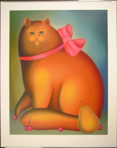 Marvelous GOLDEN CAT Igor Galanin Signed LE Art