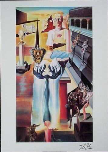 After Dali INVISIBLE MAN Ltd Ed Surreal Art Print