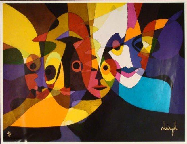 Samuel Akainyah Signed Art Poster Gallery Print Masks