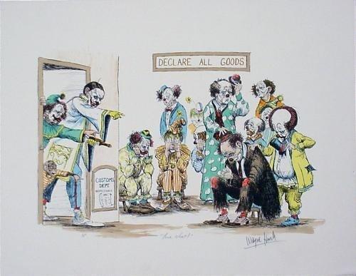 Wayne Howell Clown Caricature Fine Art Print YOUR NEXT