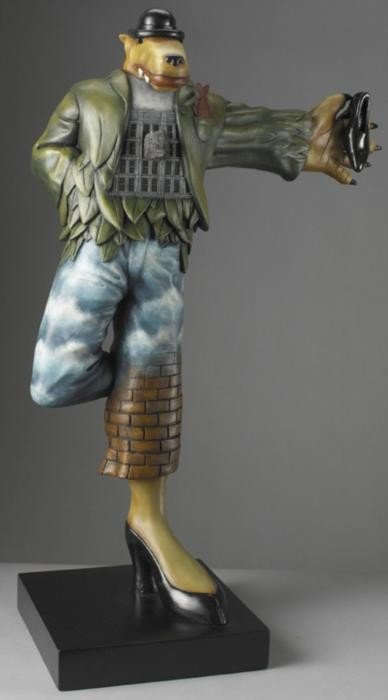 Markus Pierson This Is Not a Coyote Cast Resin