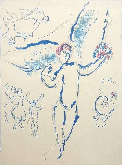 Chagall from Ballerina Lithograph